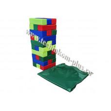 Дженга гигантская, набор мягких модулей с сумкой