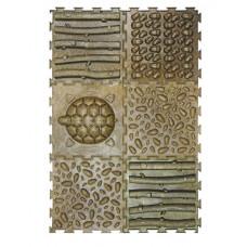 Массажный модульный коврик-пазл, набор #9 ЭКО, 6 пазлов